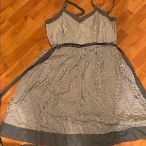 striped jean dress